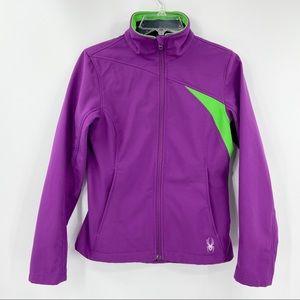 SPYDER Full Zip Soft Shell Jacket Light Fleece